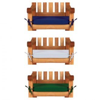 1 seat chair cushion in blue, white and green