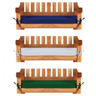 2 seat, 4ft, 120cm garden bench cushions