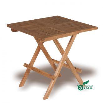 Square Teak Garden Folding Coffee Table