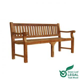 Teak Memorial Bench 4 Seat Sandhurst