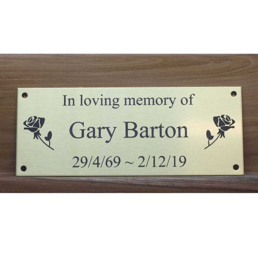Personalised Small Brass Plaque