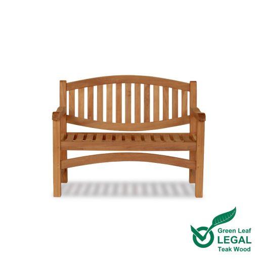 Teak Memorial Bench 2 Seat Marden