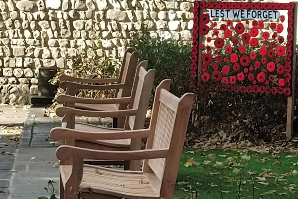 Remembrance Day Bench